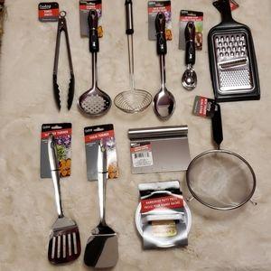 Kitchen Utensils Set 11 pc Silver Cooking …